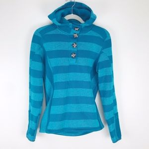Avalanche striped turquoise pullover hoodie thumbs